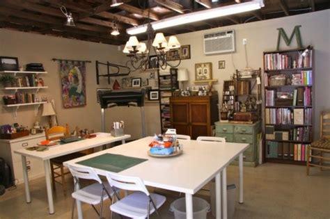 Garage Turned Craft Room  Organize Pinterest