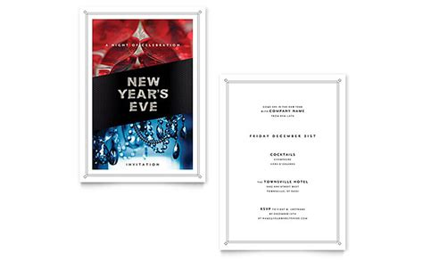 years eve invitation template word publisher