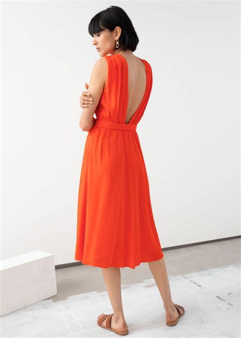Cross Front Dress | Cross front dress, Dresses, Orange ...