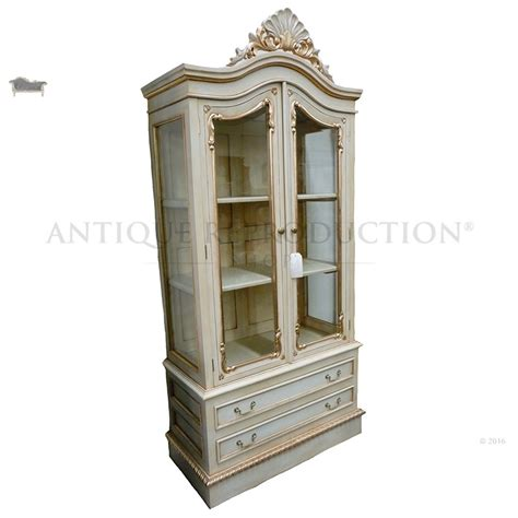 chippendale glass cabinet  door antique reproduction