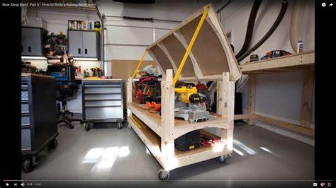 shop build part    build  rolling workbench