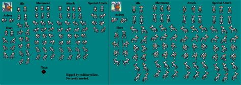 spriters resource full sheet view pokemon mystery