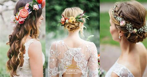 30 mesmerizing wedding hairstyles with flowers parfum flower company