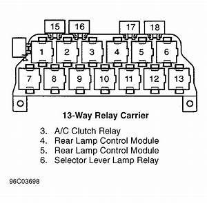 Audi A4 Relay Panel Location And Partial Diagram
