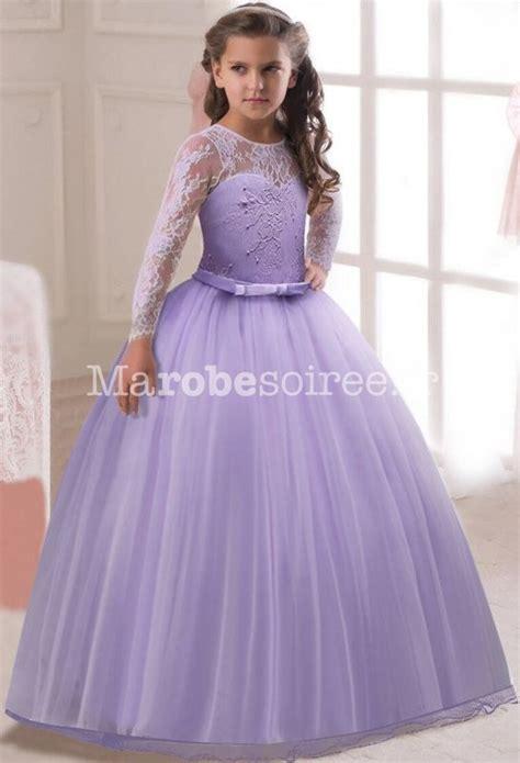 robe de princesse mariage fille robe cort 232 ge princesse dentelle manches longues