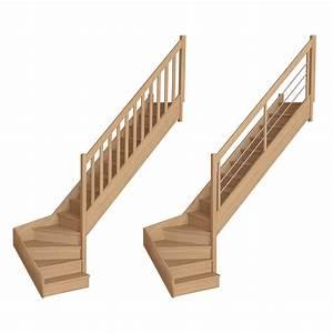 Escalier Bois Quart Tournant : quart tournant bas a 1713 escaliers flin ~ Farleysfitness.com Idées de Décoration