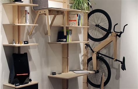 hang  desk chairs  bicycle   wall
