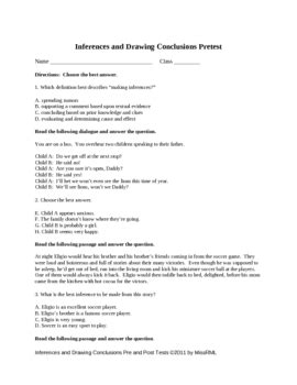 drawing conclusions and inferences worksheets