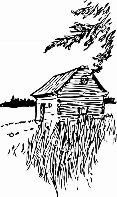 Cabin Clipart Plains Clip Coloring Camping Adults