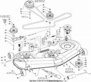 Troy Bilt 17arcacw011 Mustang Xp 54  2016  Parts Diagram
