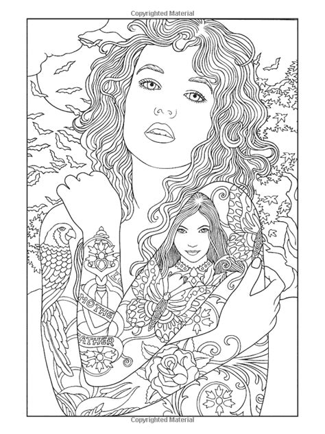 Body Art: Tattoo Designs Coloring Book (Dover… (Paperback) | Adult coloring book pages, Tattoo