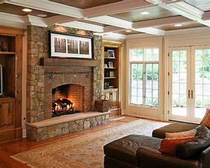 Brick, Stone, Fireplace, Home, Design, Ideas, Pictures, Remodel, And, Decor