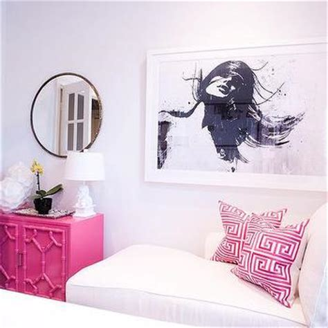 pink and grey home office design ideas