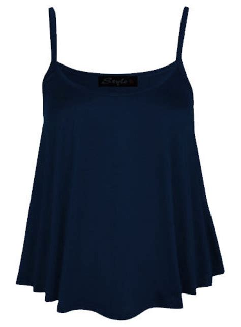 swing blouses womens plain swing vest sleeveless top strappy cami