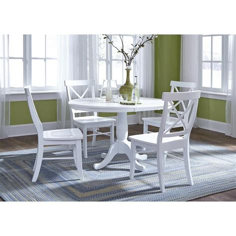 international concepts pure white   chair set