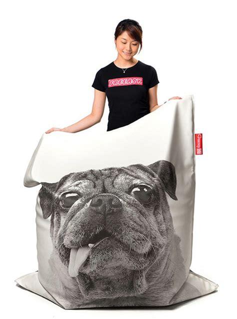 pug bean bag cover by freeasy milk