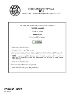 form sc1040es fillable sc1040es individual declaration of estimated tax with and