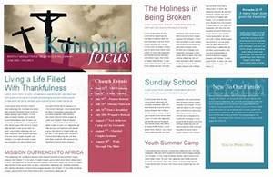 free church newsletter template print newsletter1 With free christian newsletter templates