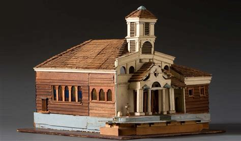 architectural church model  folk