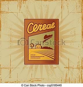 Boite A Cereale : bo te retro c r ale bo te d coratif illustration woodcut vecteur retro c r ale style ~ Teatrodelosmanantiales.com Idées de Décoration