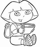Dora Coloring Explorer Pages sketch template