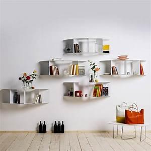 decoration cuisine etagere With salle de bain design avec petites étagères murales décoratives