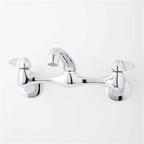 kitchen sink wall mount faucet chrome faucet signature hardware 8558