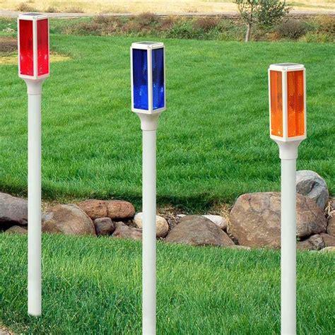 solar led driveway marker stake lights garden  pond depot