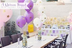 Kara39s Party Ideas Starry Unicorn Birthday Party Kara39s