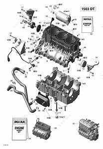 Sea Doo 2007 Gti - Gti 4-tec Se  Engine Block