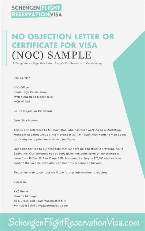objection letter  visa application sample