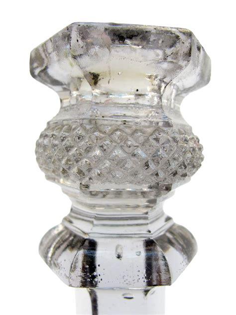 candelieri cristallo coppia di candelieri in cristallo degli inizi 1900