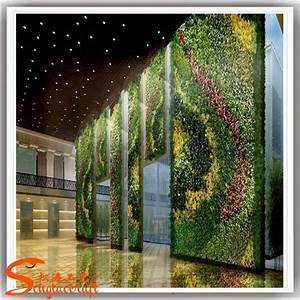 China indoor plastic vertical green wall and artificial for Interior design grass wall