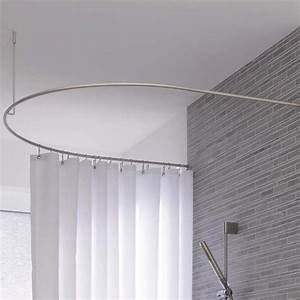 Duschstange L Form : duschvorhangstange halbkreis verl ngert dr 50 hd 80 edelstahl kreis form duschstange ~ Orissabook.com Haus und Dekorationen