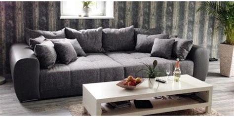 Modernes Xxl Sofa  Bigsofa  Couch In Anthrazit  Grau Zu