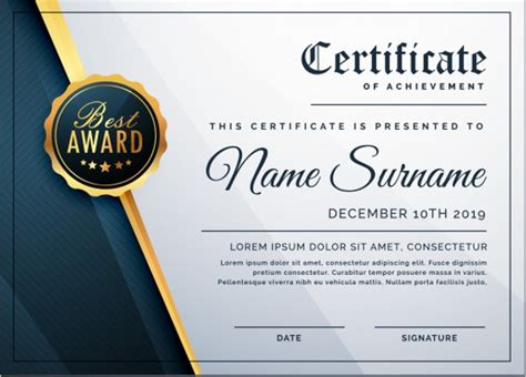 Company Certificate Template by Business Certificate Templates Free Premium