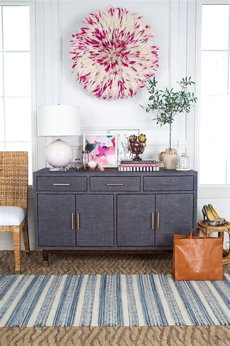 How To Decorate A Credenza by How To Style A Functional Entryway Credenza Glitter Guide