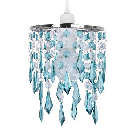 light blue l shade teal blue green acrylic crystal ceiling light l shade