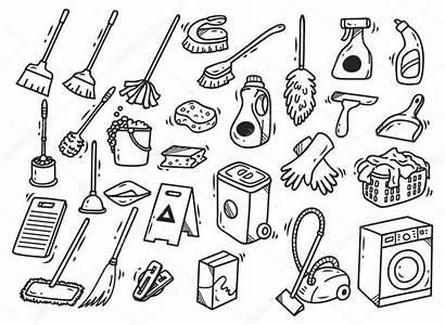 Limpieza Cleaning Productos Supplies Doodle Doodles Fondo