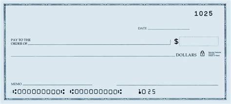 printable personal blank check template check blank