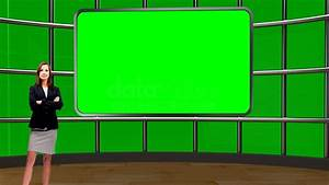 Talkshow 018 TV Studio Set-Virtual Green Screen Background ...