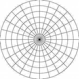 Polar Grid In Degrees With Radius 7
