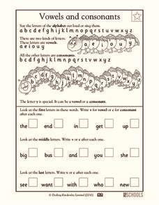 vowels  introduction collection lesson planet