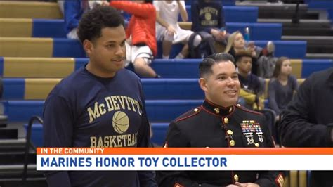 Bishop Mcdevitt Senior Honored By Marines, Toys For Tots
