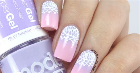 nails supreme gradient and lace with nails supreme nail pens brit