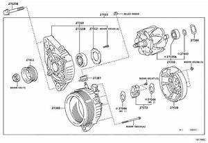 2006 Toyota 4runner Alternator  Remanufactured Alternator
