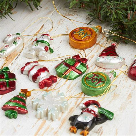 assorted miniature holiday ornaments christmas