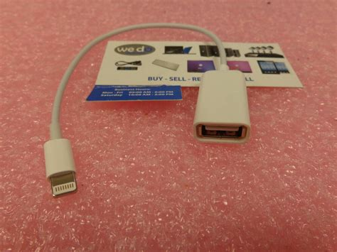 apple accessories lightning  usb port adapter  ipad    air  mini ebay