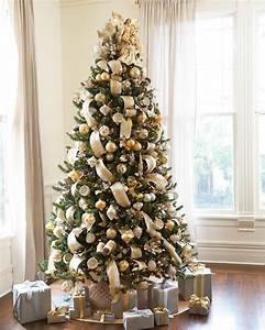 Silver, And, Gold, Christmas, Tree