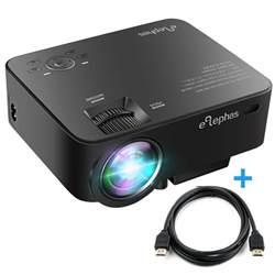 elephas 1500 lumens led multimedia mini projector portable for home cinema ebay